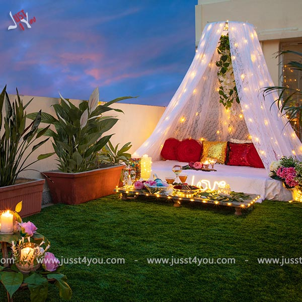 Rooftop cabana candle light dinner - Jusst4you
